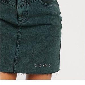Brand new Denim Green Skirt